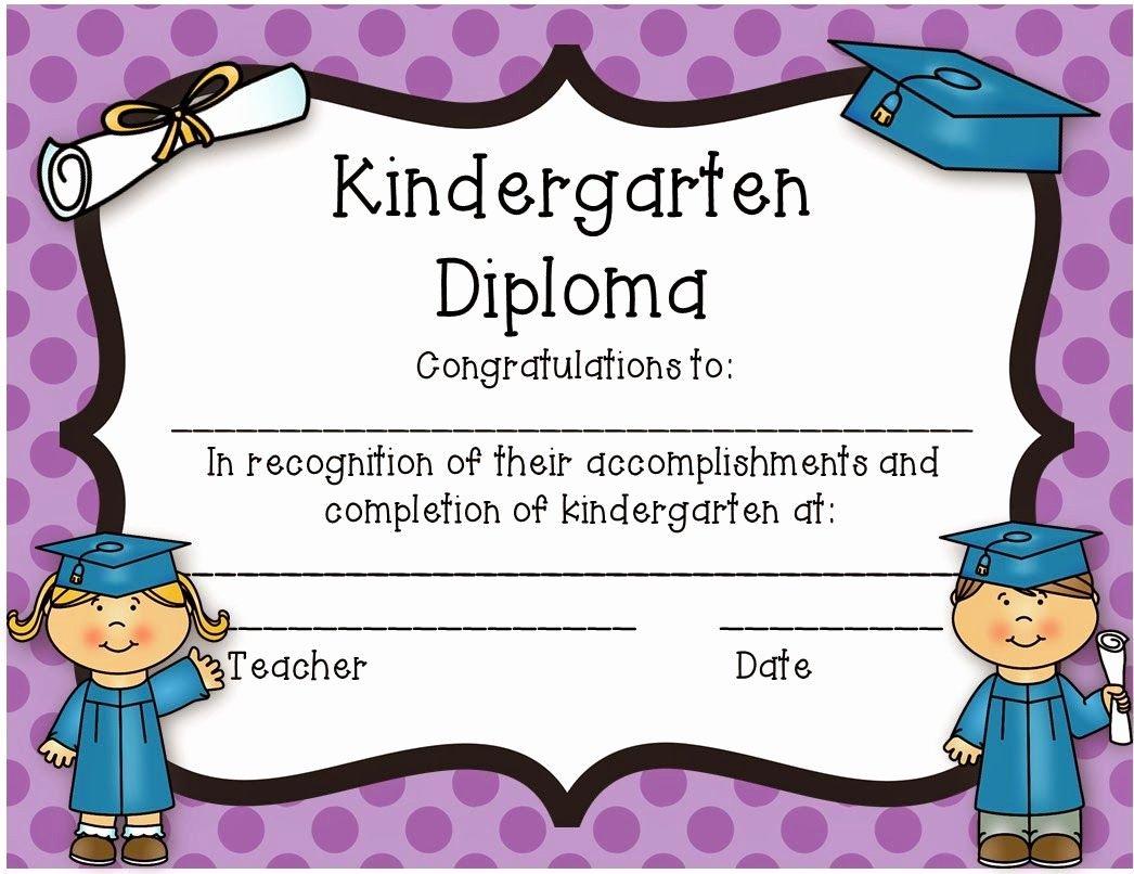 Preschool Graduation Certificate Template Free Best Of Kindergarten Diploma Freebie