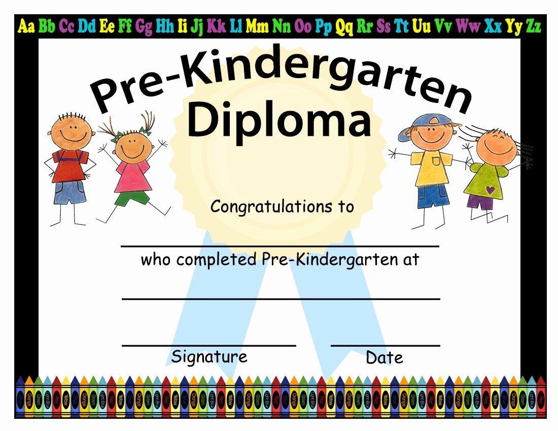 Preschool Graduation Certificate Template Free Best Of Pre Kindergarten Graduation Diplomas Blank Graduation