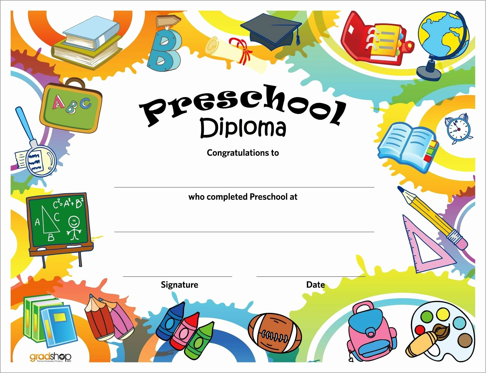 Preschool Graduation Certificate Template Free Elegant 11 Preschool Certificate Templates Pdf