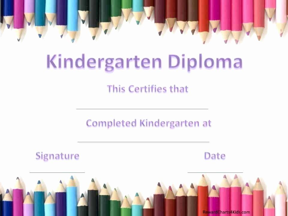 Preschool Graduation Certificate Template Free Elegant Kindergarten Certificates