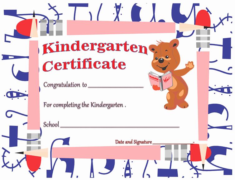 Preschool Graduation Certificate Template Free Elegant Kindergarten Diploma Certificates Printable Templates