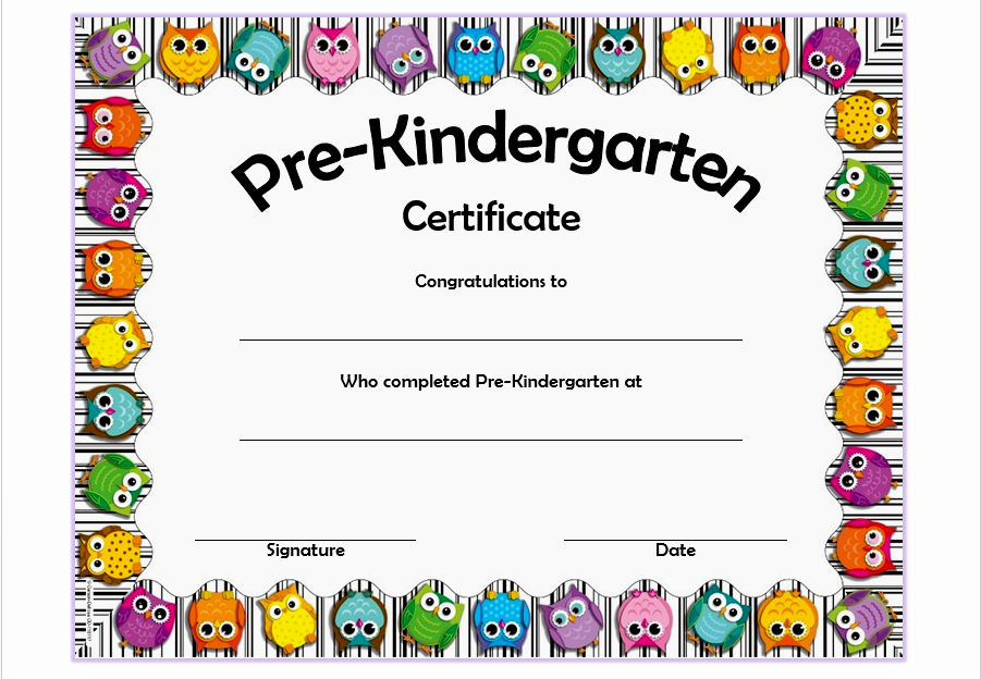Preschool Graduation Certificate Template Free Elegant Pre K Diploma Template Professional and High Quality