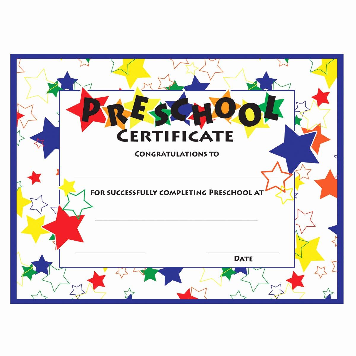 Preschool Graduation Certificate Template Free Fresh 11 Preschool Certificate Templates Pdf