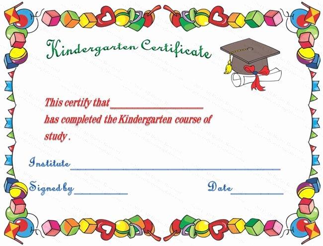 Preschool Graduation Certificate Template Free Fresh Hats Off Kindergarten Diploma Certificate Template