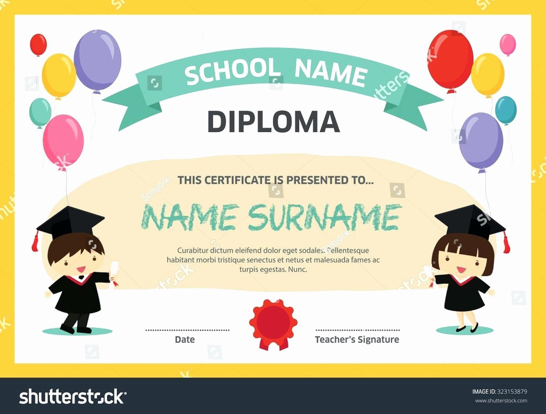 Preschool Graduation Certificate Template Free Fresh Template Preschool Graduation Certificate Template
