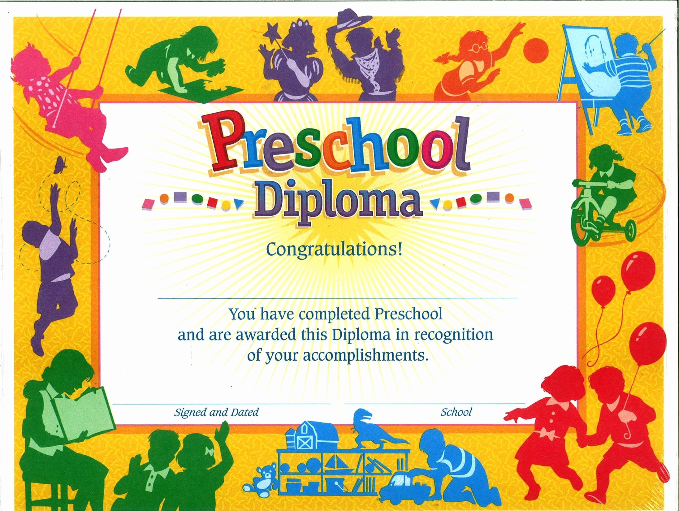 Preschool Graduation Certificate Template Free Inspirational 11 Preschool Certificate Templates Pdf