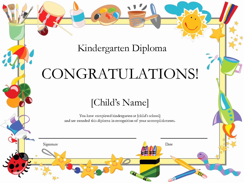 Preschool Graduation Certificate Template Free Inspirational 6 Best Of Free Printable Preschool Diplomas
