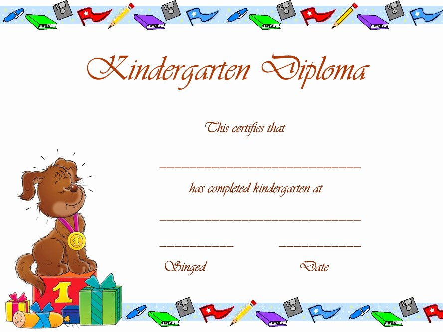 Preschool Graduation Certificate Template Free Inspirational 8 Best Of Free Printable Graduation Certificates
