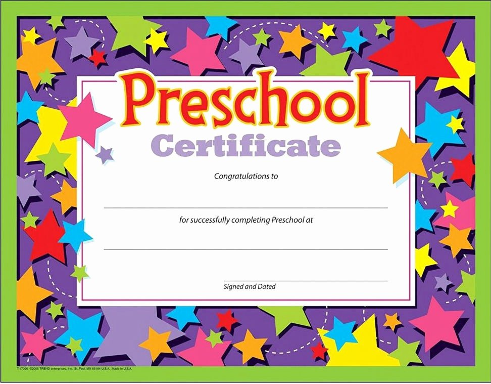 Preschool Graduation Certificate Template Free Lovely 11 Preschool Certificate Templates Pdf