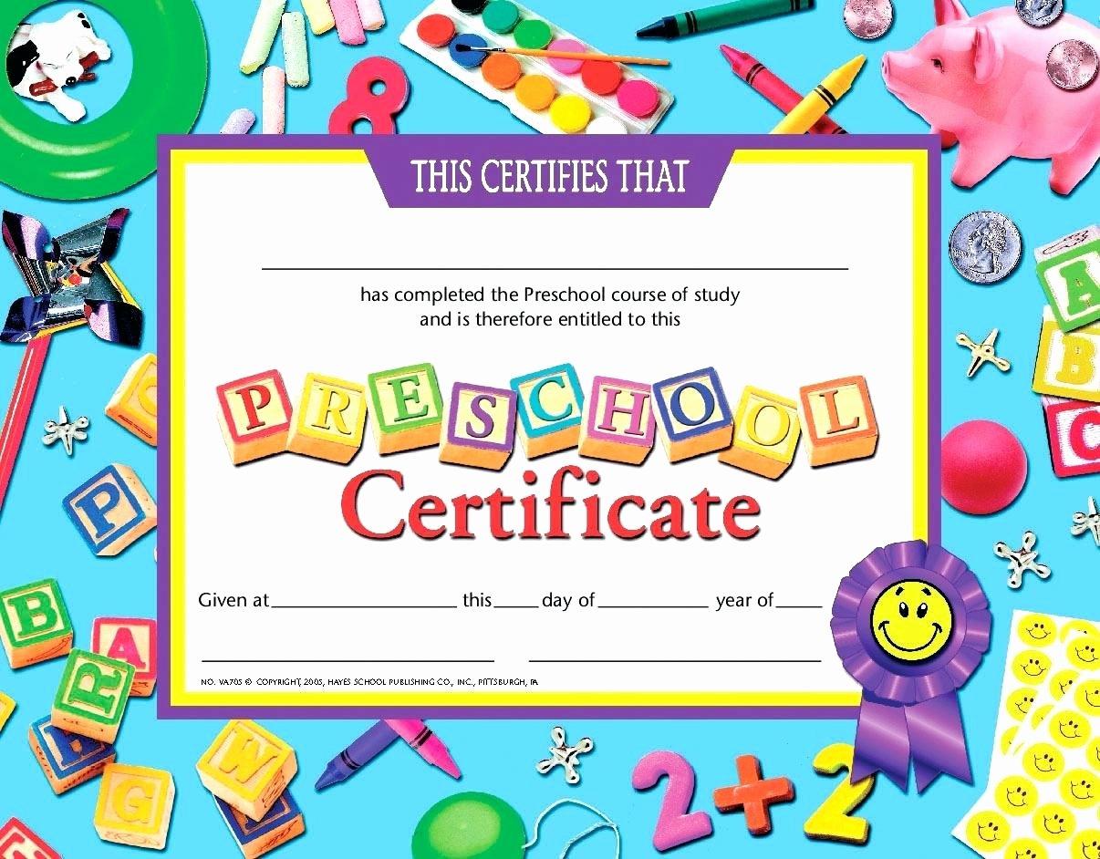 Preschool Graduation Certificate Template Free Lovely Template Math Certificate Template Preschool Graduation