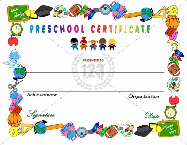 Preschool Graduation Certificate Template Free Luxury Amazing Preschool Certificates for Your Kids