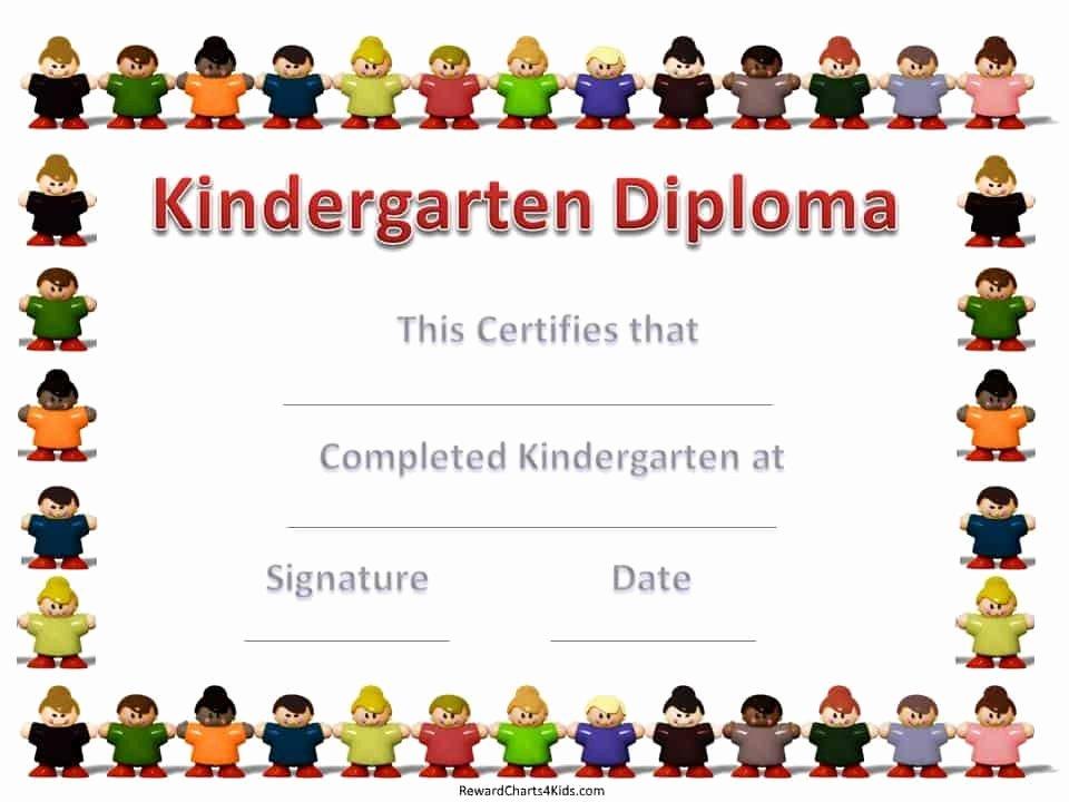 Preschool Graduation Certificate Template Free Luxury Kindergarten Certificates