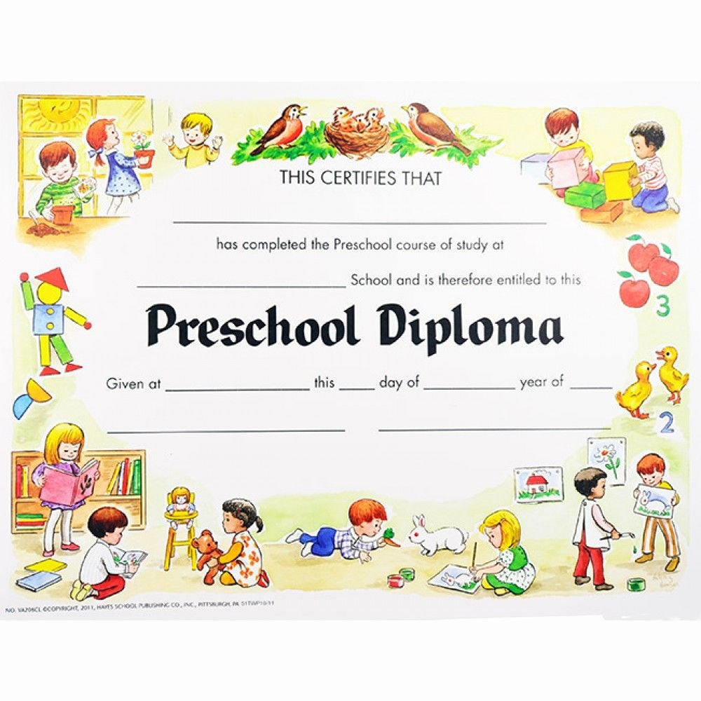 Preschool Graduation Certificate Template Free Luxury Preschool Graduation Certificates