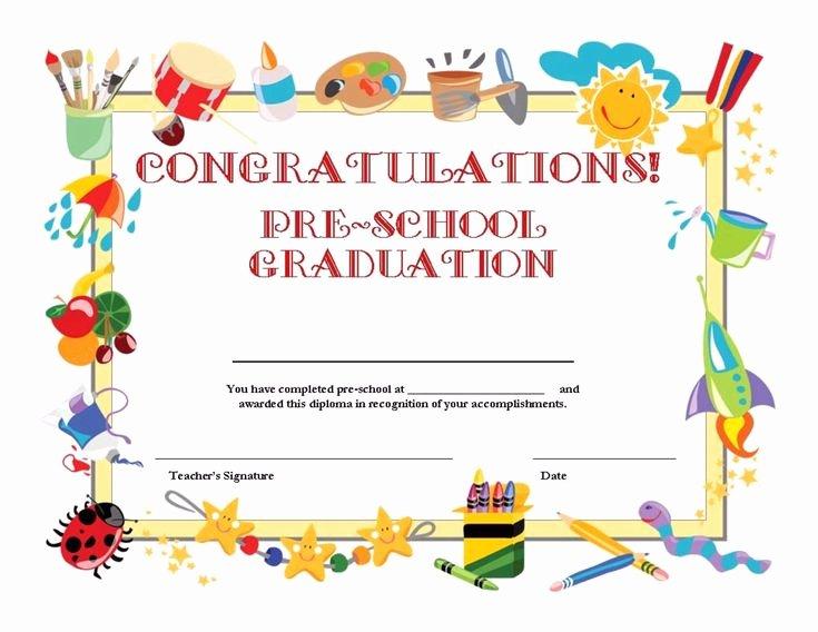 Preschool Graduation Certificate Template Free New Free Printable Pre School Graduation Certificate