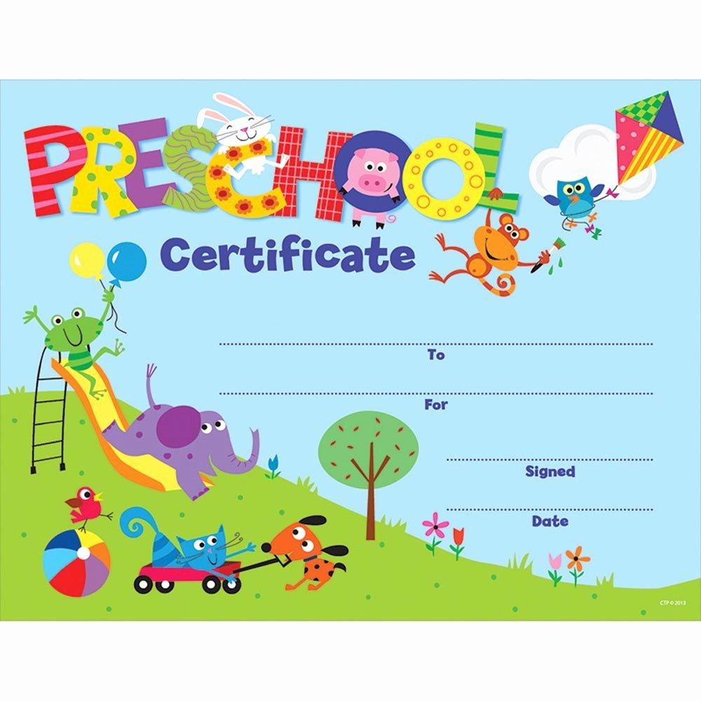 Preschool Graduation Certificate Template Free New Preschool Certificate Awards Ctp1398
