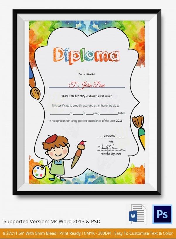 Preschool Graduation Certificate Template Free New Preschool Certificate Template 18 Free Word Pdf Psd