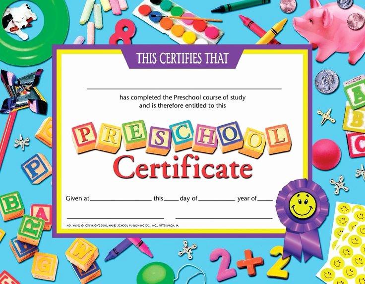 Preschool Graduation Certificate Template Free Unique Certificate Schule Und Zeugnisse Pinterest