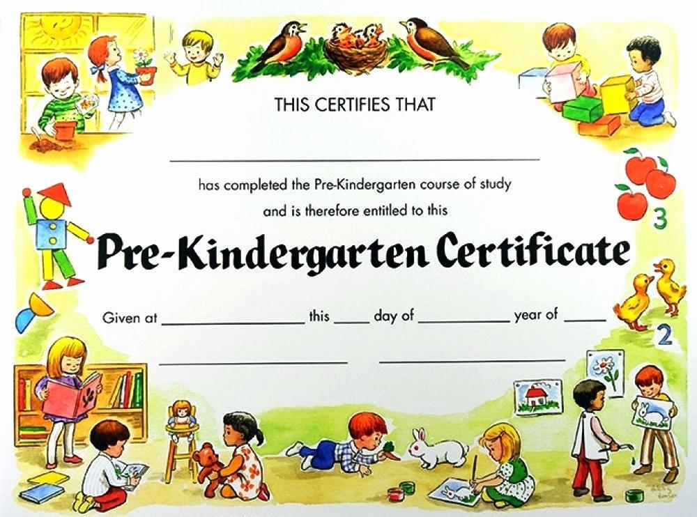 Preschool Graduation Certificate Template Free Unique Kindergarten Graduation Certificates Paperpopsicles