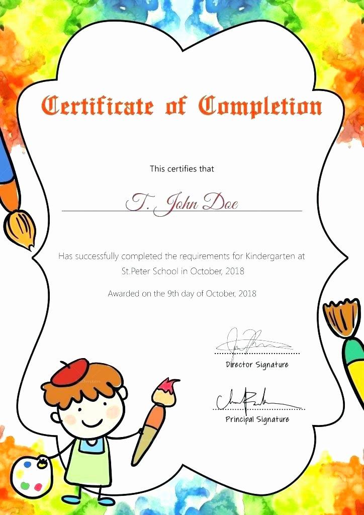 Preschool Graduation Certificate Template Free Unique Preschool Graduation Certificate Template Free Printable