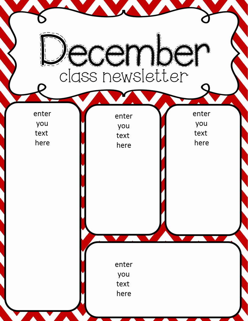 Preschool Newsletter Template Free Best Of Simply Delightful In 2nd Grade December Newsletter Freebie