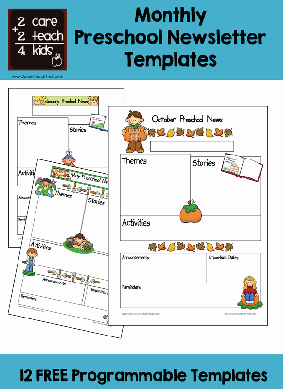 Preschool Newsletter Template Free Unique Preschool Newsletters Free Printable Templates