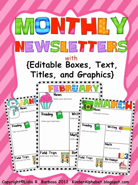 Preschool Weekly Newsletter Template Best Of the Kissing Hand and Editable Newsletters