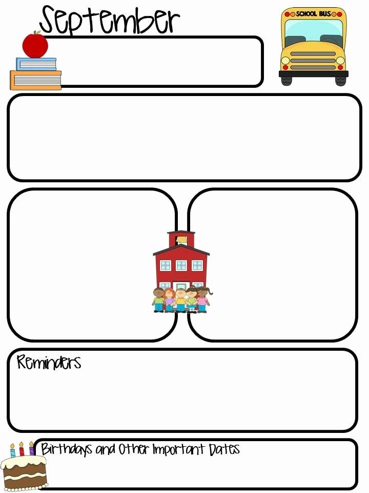 Preschool Weekly Newsletter Template Elegant 17 Best Ideas About Kindergarten Newsletter On Pinterest