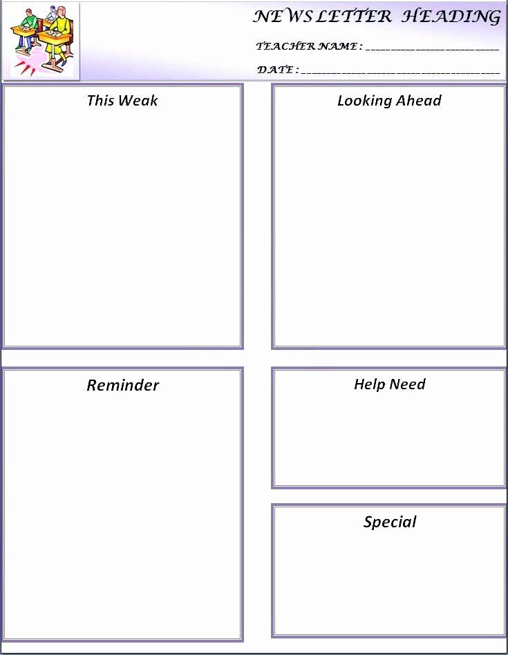 Preschool Weekly Newsletter Template Elegant Free Classroom Newsletter Templates Template 9 Word