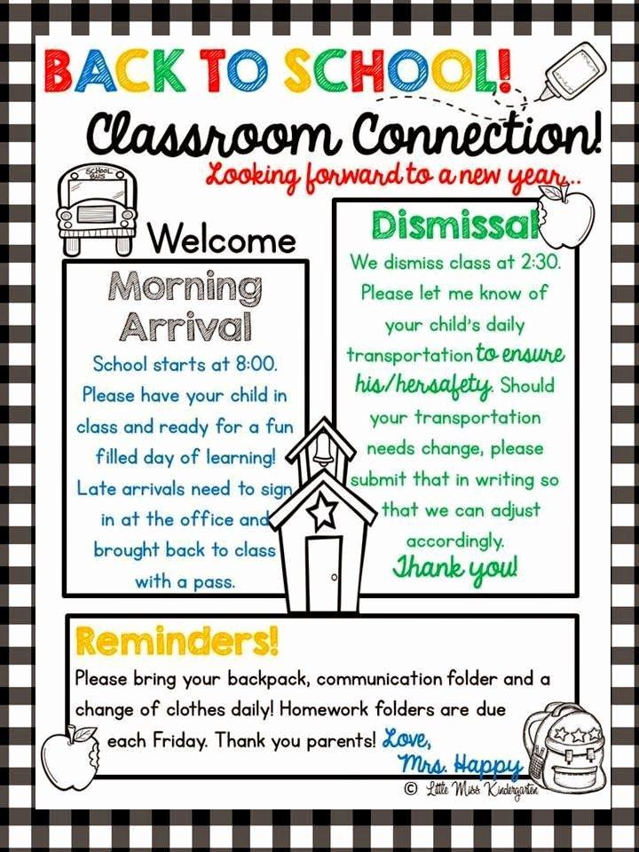 Preschool Weekly Newsletter Template Fresh 8 Best Kindergarten Newsletters Images On Pinterest