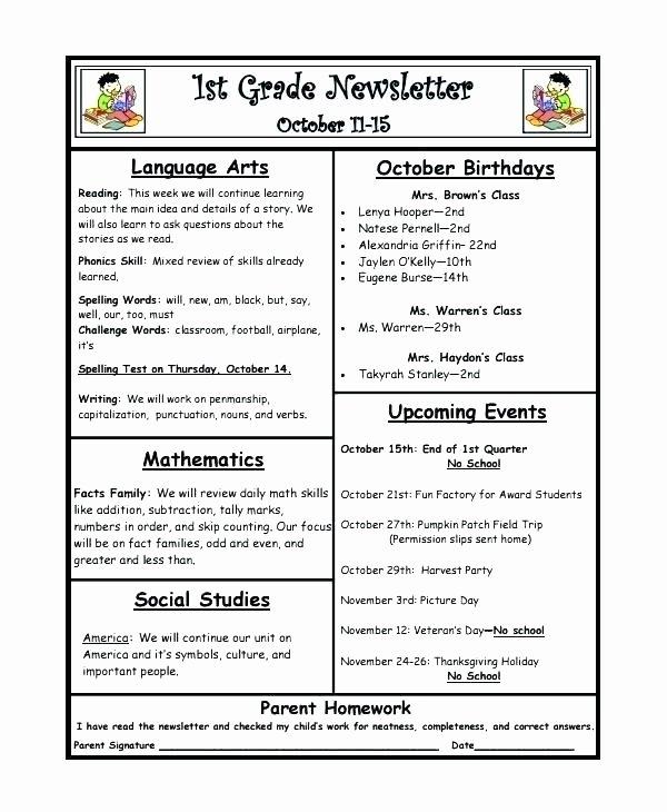 Preschool Weekly Newsletter Template Fresh Homeless Shelter Newsletter A Golf Resort Template Award