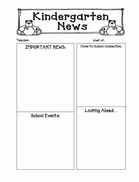 Preschool Weekly Newsletter Template Inspirational 6 Best Of Kelly S Kindergarten Monthly Newsletter