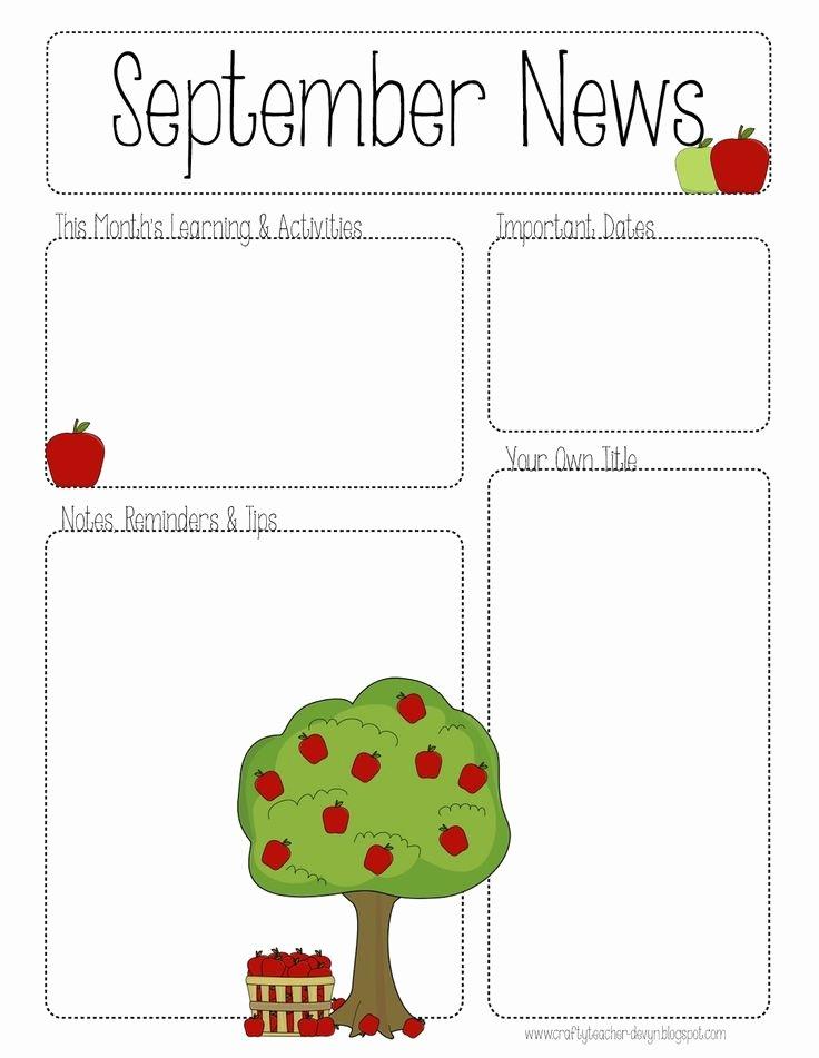 Preschool Weekly Newsletter Template Lovely 100 Best Teacher Calendar & Newsletter Templates Images