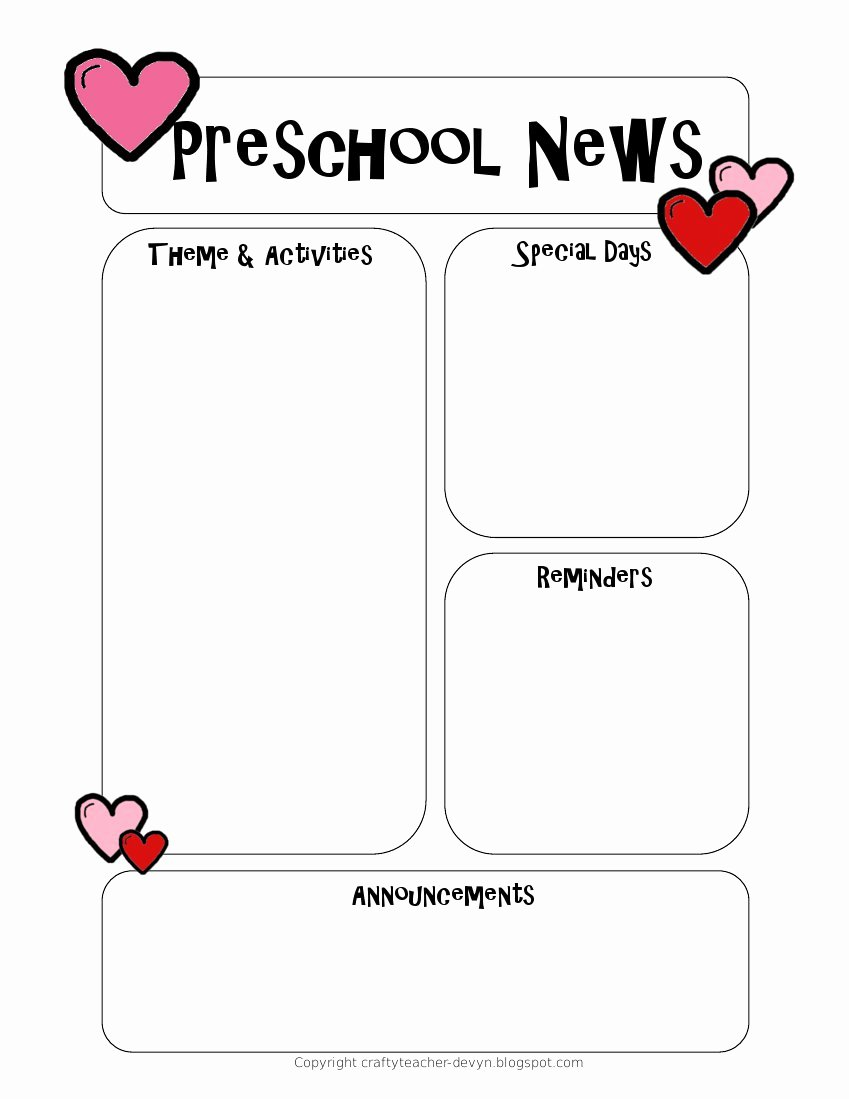 Preschool Weekly Newsletter Template Luxury Preschool Newsletter Template