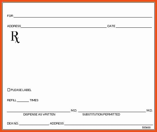 Prescription Pad Template Pdf Beautiful Blank Prescription form Template – Versatolelive
