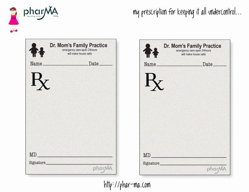 Prescription Pad Template Pdf Fresh Dr Mom S Prescription Pad the Pharma