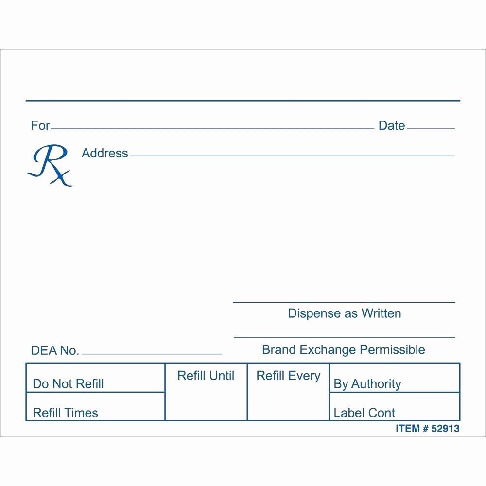 Prescription Pad Template Pdf Luxury Blank Prescription form Template – Versatolelive