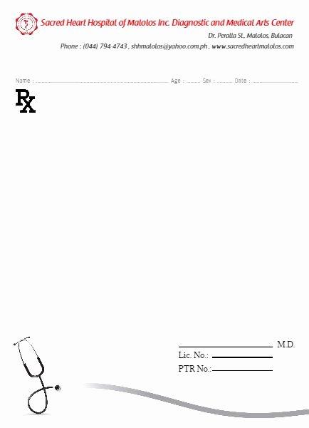 Prescription Pad Template Pdf Luxury General Doctor Prescription Pad