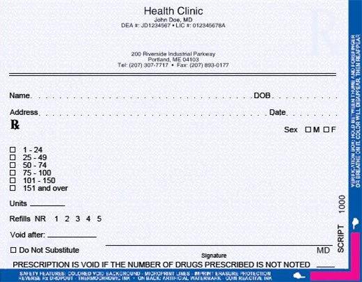 Prescription Pad Template Pdf New Tamper Resistant Prescription Pads