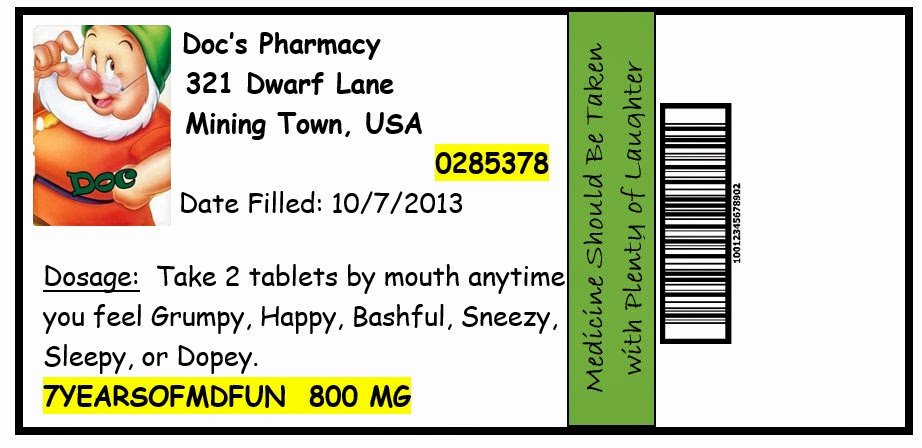 Prescription Template Microsoft Word Lovely Invite and Delight October 2013