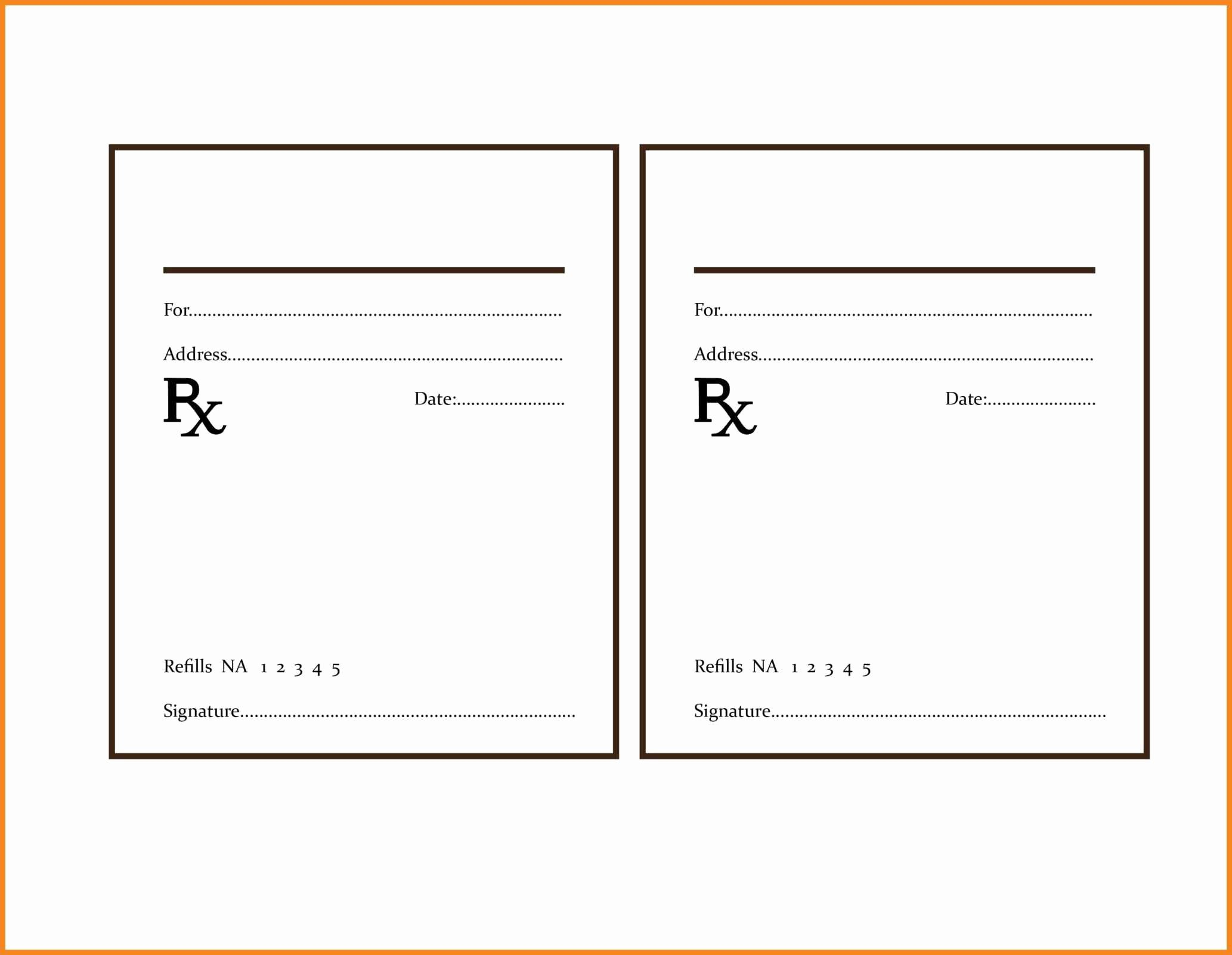 Prescription Template Microsoft Word New Rx Template Templates Collections