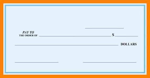 6 free printable blank checks