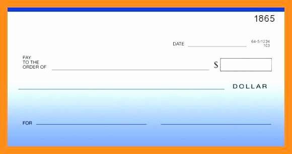 Presentation Checks Template Free Unique 12 13 Blank Cheque Template Editable