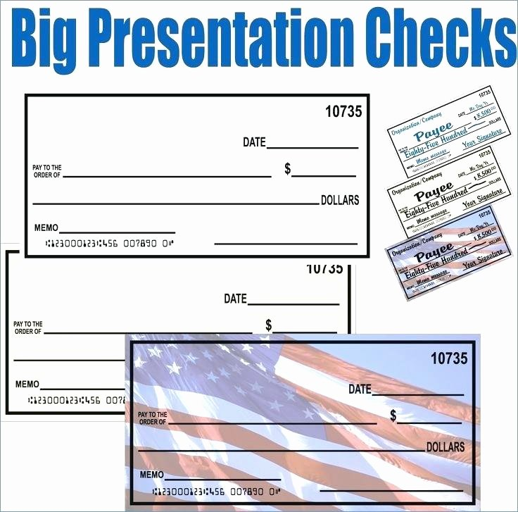 Presentation Checks Template Free Unique Big Cheque Template Free Novelty Cheques – Tatilvillam