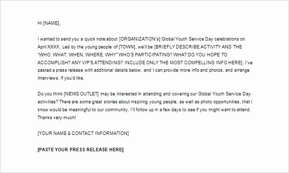 Press Release Email Template Beautiful Best New Product Launch Email Template Press Release