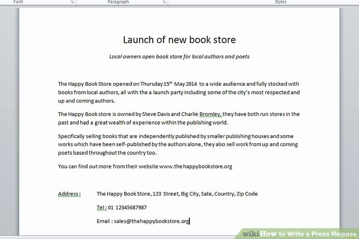 Press Release Email Template Fresh the 3 Best Ways to Write A Press Release with Example