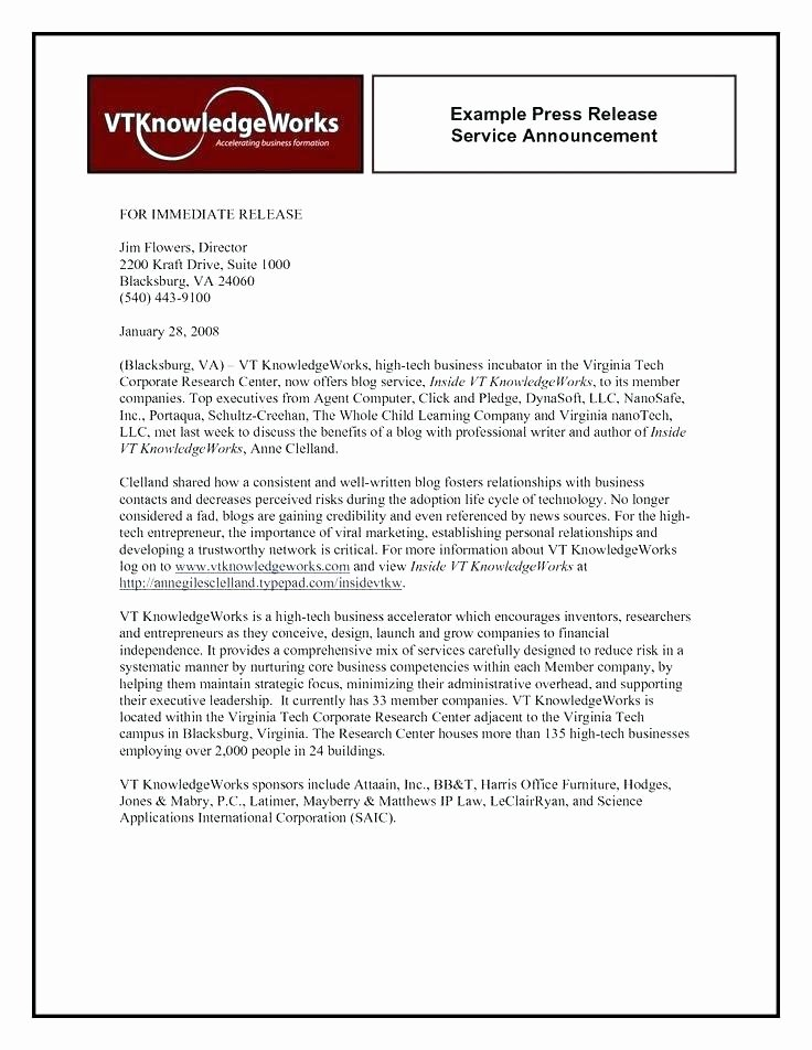 Press Release Email Template Luxury New Product Announcement Press Release Launch Email