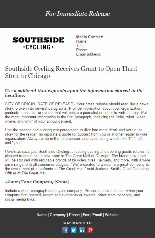 Press Release Email Template Unique 14 Newsletter Designs Your Customers Will Love