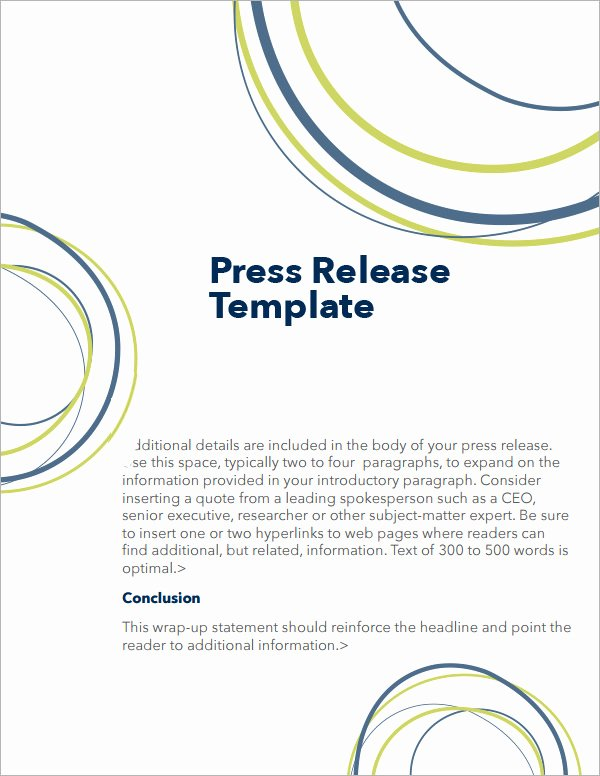 Press Release format Template Awesome 8 Press Release Templates