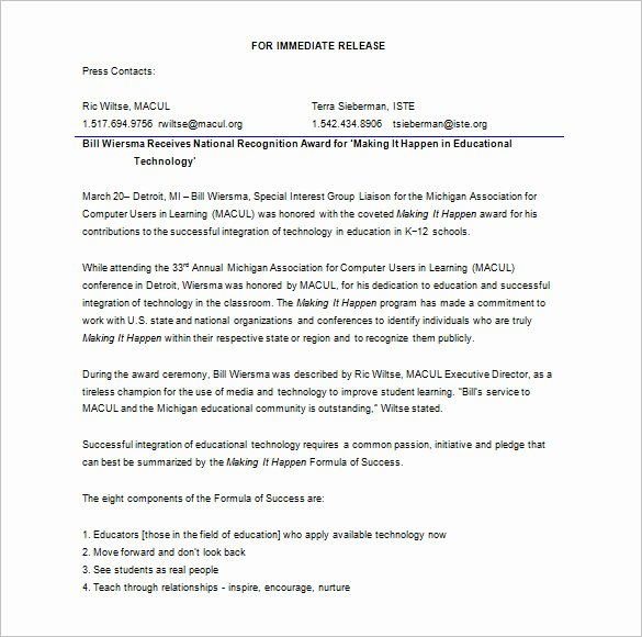 Press Release format Template Fresh Business Acquisition Press Release Template Templates