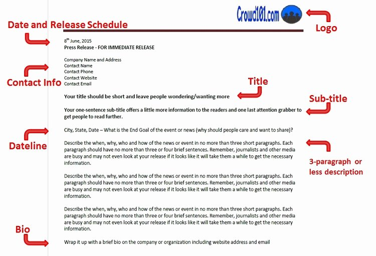 Press Release format Template Fresh How to Write An Irresistible Crowdfunding Press Release
